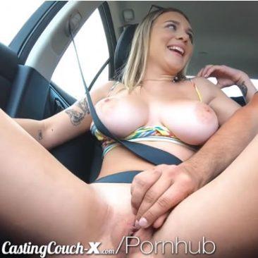 Gabbie Carter - casting szex, nagy mellek